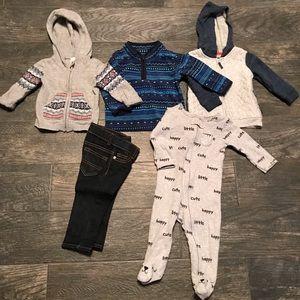 EUC baby boy 9m Oshkosh bundle